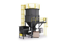 Bottom Loading Bulk Material Mixing System 360 View