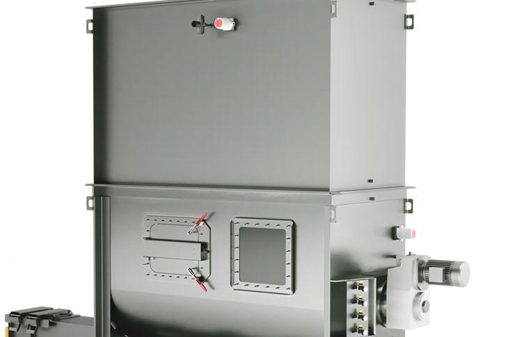 Agitator Hopper with Level Sensors