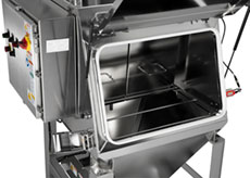 Bag Break Station Hopper with Electro Polished Stainless Steel Construction