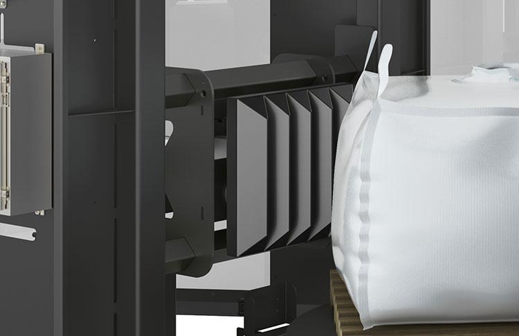 Bulk Bag Conditioner with Bulk Material Deblocking Rams