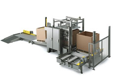 Bulk Container Filler with Roller Conveyor