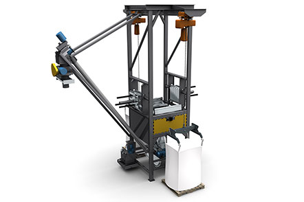 Bulk Bag Discharging System with Flexible Screw Conveyor
