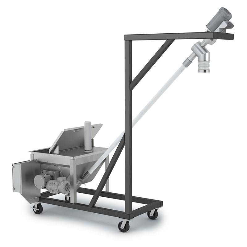 Flexible Screw Conveyor with Portable Cart