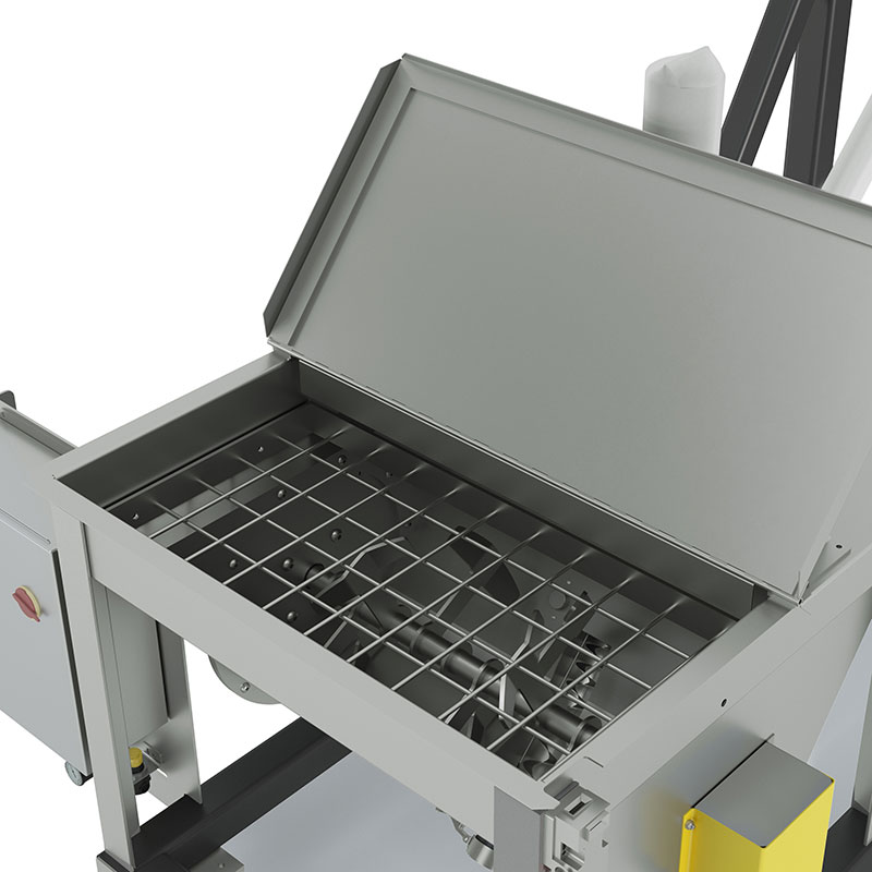 Flexible Screw Conveyor with Z-Paddle Agitator