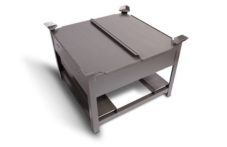 Storage Hopper with Highed Lid