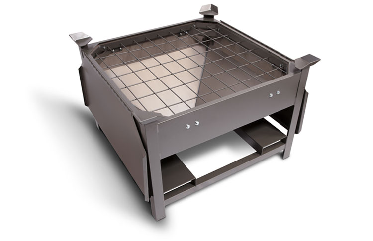 Storage Hopper with Steel Grate
