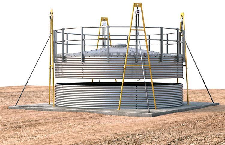 Storage silo installation and erection