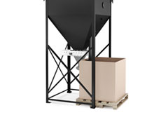 48.00-inch Minimum Width Access Below Bin for Gaylords, Hoppers, Totes