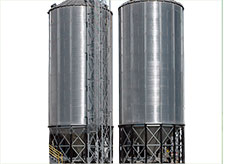 High Capacity Corrugated Storage Silos