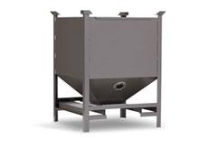 14-gauge Carbon Steel Hopper Construction