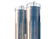 Skirted Corrugated Silos